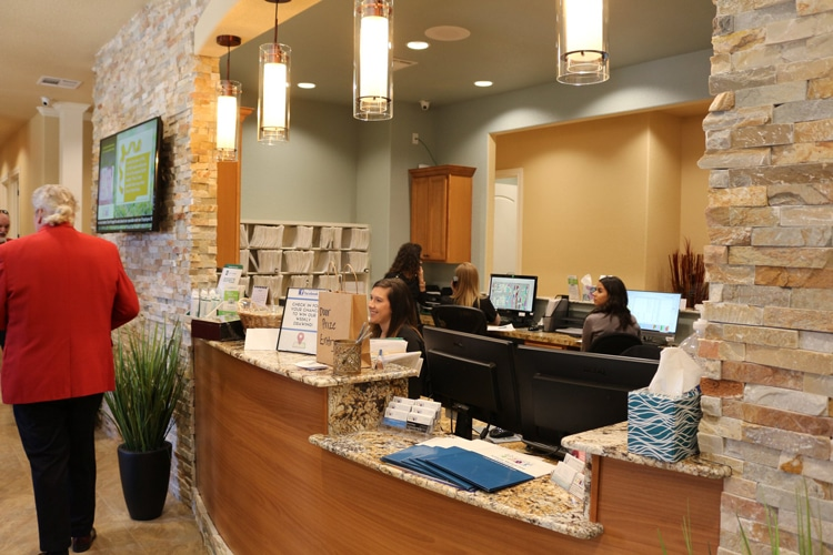 Chiropractic Temple TX Receptionist Area