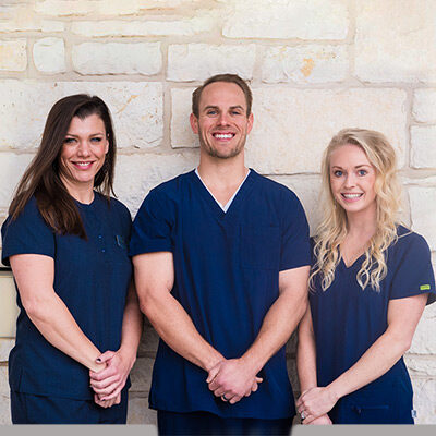 Chiropractor Waco TX Chris Taylor and Rachel Spicer with NP Charity Martin